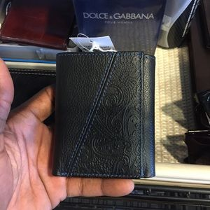 New Robert Graham Leather Trifold Black Wallet