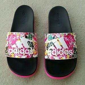 adidas shoes floral slides poshmark
