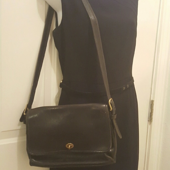vintage black coach purse