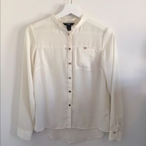 H&M sheer button down blouse