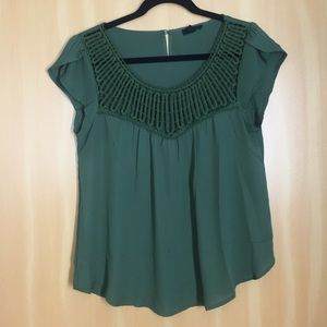 Tops - Forest Green Blouse