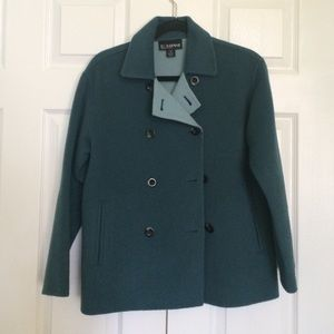 Ellen Tracy Jackets & Blazers - Brand new dark teal wool coat