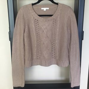Sweaters - Knitted Beige Sweater