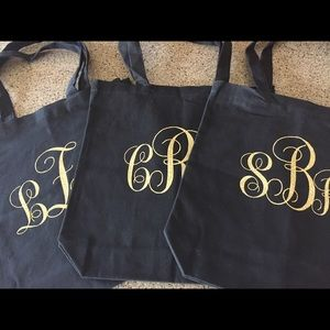 Handbags - Custom Glitter Monogrammed Tote NEW separately