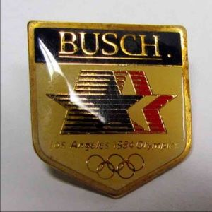 Vintage BUSCH Beer, Olympics Pin
