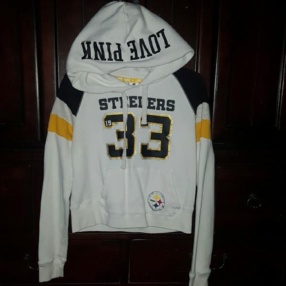 best loved 3011a a1863 Pink Victoria Secret NFL Steelers Hoodie