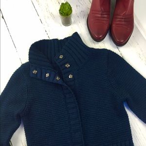 Sweet Romeo Sweaters - Sweet Romeo Cable Knit Long Sleeve Cardigan