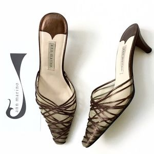 Ann Marino Shoes - Ann Marino Strappy Mesh Pointy Toe Mule❤️