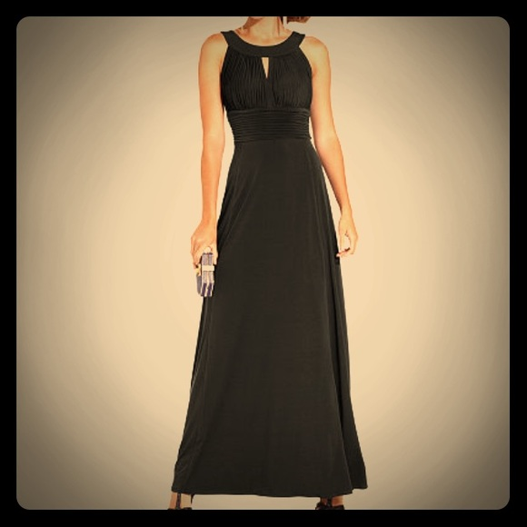 Sangria Dresses Long Black Dress Empire Waist 6 Poshmark