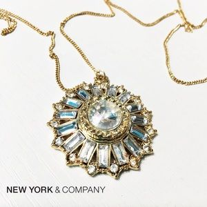 New York & Company Jewelry - NWT NY&Co Long Crystal Starburst Necklace