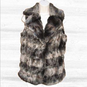Alberto Makali Jackets & Blazers - 🆕 Alberto Makali Faux Fur Vest, Brown Multi