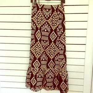 Cake Dresses & Skirts - Embroidered bohemian cotton maxi skirt