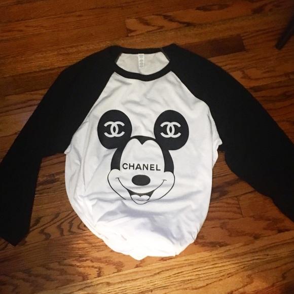 chanel shirt. tops - mickey chanel t shirt i