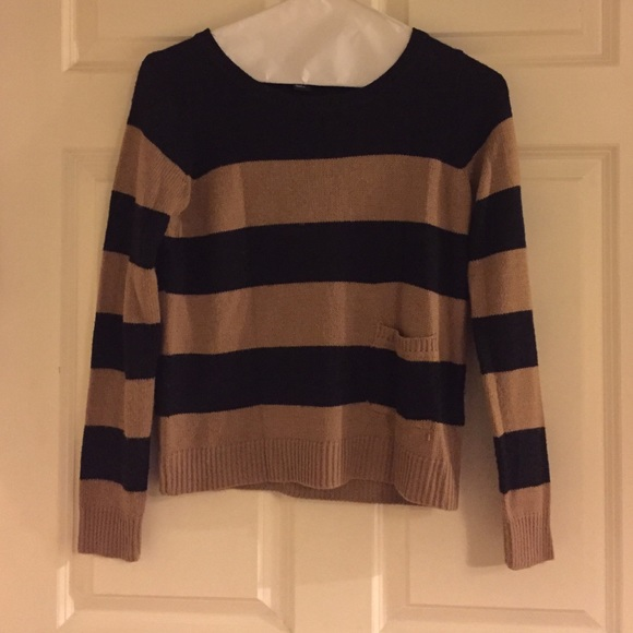 85% off H&M Sweaters - H&M Black and Tan Stripe Sweater with ...