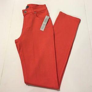 Soho Apparel Pants - 🆕 Peachy Coral Pink Rhinestone Skinny Jeggings