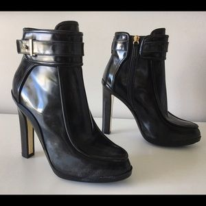 SALVATORE FERRAGAMO ROMY LEATHER MOTO BOOTS