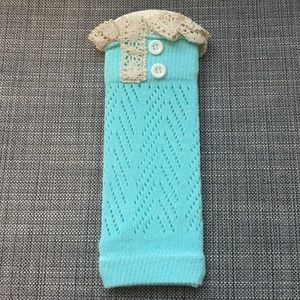 Lace and Lemons Accessories - Lace and Lemons Mint Lag Warmers.