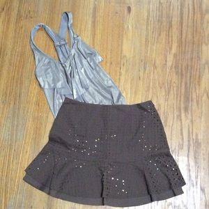City DKNY Eyelet Skirt Size 8