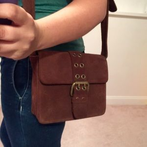 Frye Handbags - 🌺🌸🌷GORGEOUS BROWN SEUDE FRYE CROSS BODY🌷🌸🌺