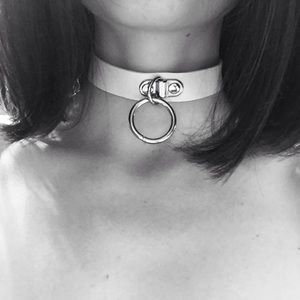 ◽️◻️Choker Ring Necklace White