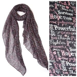 Accessories - Black & Pink Breast Cancer Survivor Scarf B10