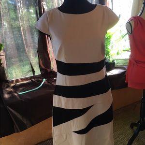 Dresses & Skirts - Beige and Black Dress