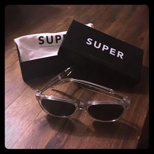 Super Sunglasses Other - Super sunglasses, clear acrylic frame