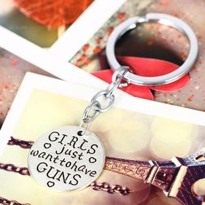Camo Accessories - Girls just want to have guns keychain