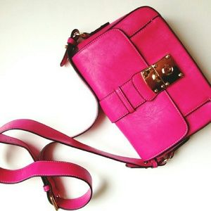 Melie Bianco Handbags - Fuschia Crossbody Bag