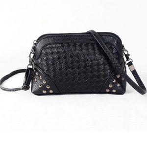 Handbags - Mini Black Rivet Crossbody Shoulder Messenger Bag