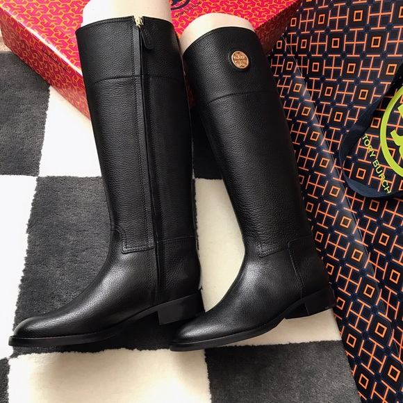 5c79ea09df09 Tory Burch Shoes | Junction Riding Boots Black | Poshmark