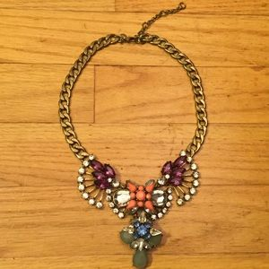 J. Crew Crystal Fan Statement Necklace
