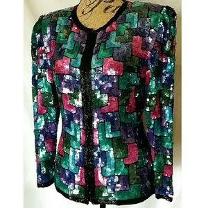 🚫SOLD🚫Vintage Heavy Sequin Jacket