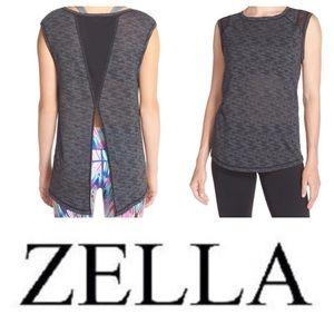 Zella Tops - NEW! Zella 'Luna' burnout mesh convertible tie tee
