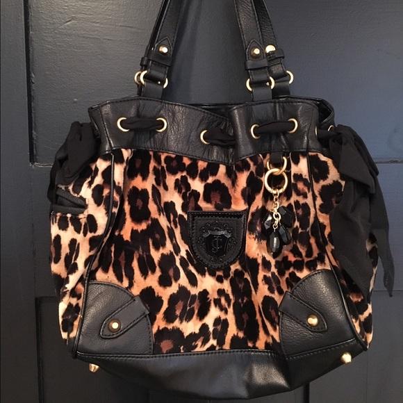 Juicy Couture Handbags - Juicy couture leopard print velour bag 20b0eb47d8b6