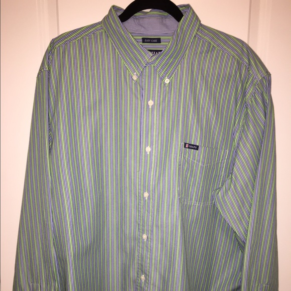 Chaps sale men 39 s chaps easy care button down shirt for Chaps shirts on sale