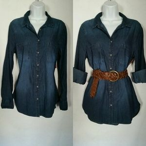 Tops - Chambray Button Down Shirt