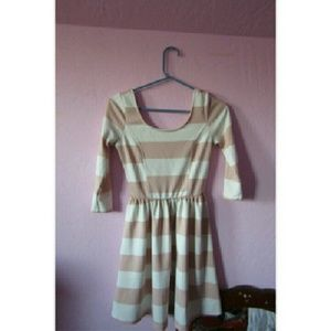 Timing  Dresses & Skirts - Pink and white striped dress