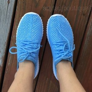 Shoes - Baby Blue/White Sneakers