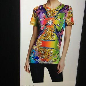 Versus By Versace Tops - Versus  by Versace Multi Printed Tee NW