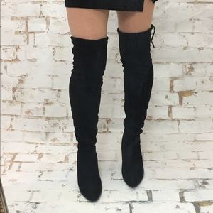 Shoes - Sale! Black Suede Over the Knee Boots