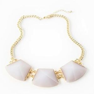 White crystal gold chain necklace