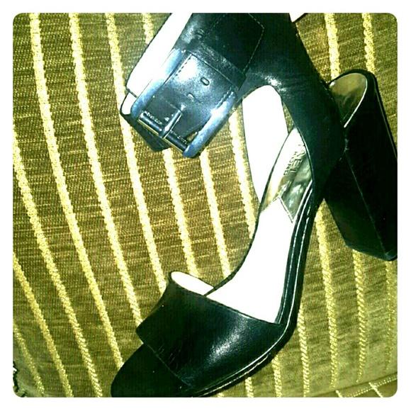 60 off michael kors shoes sale michael kors black ankle strap from shop with me boutique 39 s. Black Bedroom Furniture Sets. Home Design Ideas