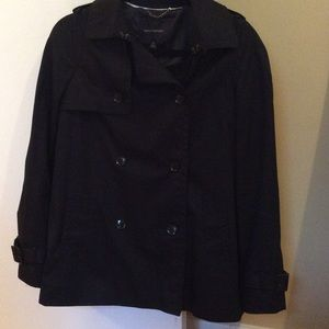 black banana republic trench coat on Poshmark
