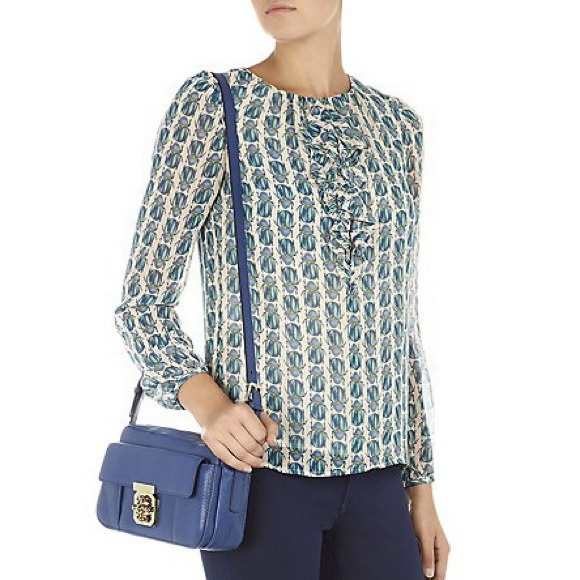 Tory Burch Silk Printed Blouse Buy Cheap Really Cheap Get Authentic Unisex YEcOO3wwK