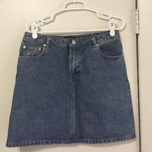 A.P.C. Dresses & Skirts - A.P.C denim mini skirt