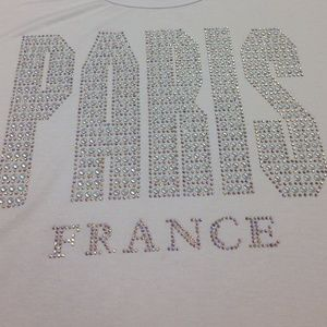 Attitude Paris Private Design France Tops - 💜SALE💜 Attitude Paris BLING T-shirt w Sparkle!