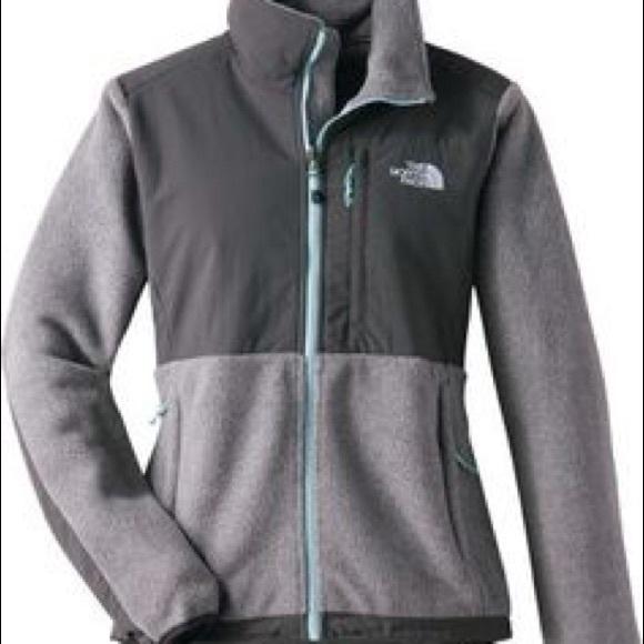 North Face Denali Grey Aqua Fleece Jacket Women s.  M 57e6970736d5949af400453f b6476d2b13a4