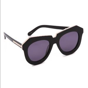 Karen Walker Accessories - Karen Walker: One Meadow Black/Gold New w/ Tags.