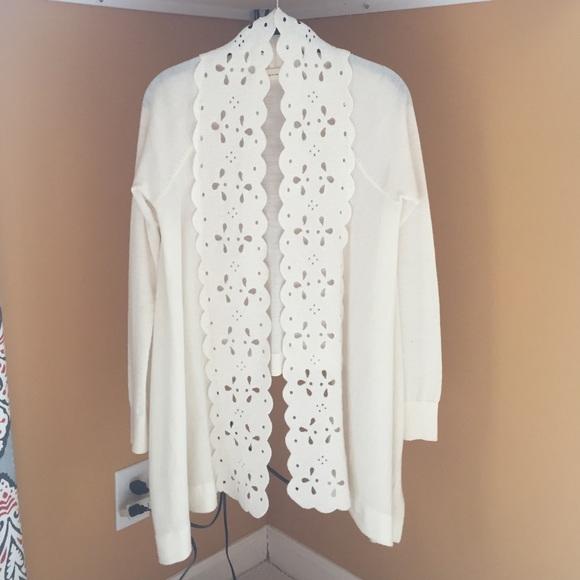 Anthropologie Sweaters - Anthropologie Sleeping on Snow Cream Cardigan, S